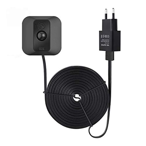 Wasserstein Stromkabel für Blink XT Outdoor & Indoor Kamera – langes und dünnes 4,6 m langes Kabel zur kontinuierlichen Bedienung Ihrer Blink XT & Innenkamera – Schwarz