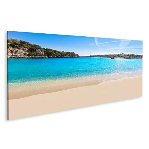 bilderfelix® Bild auf Leinwand Mallorca Porto Cristo Strand in Manacor von Mallorca Balearische Insel in Spanien Wandbild, Poster, Leinwandbild SIE