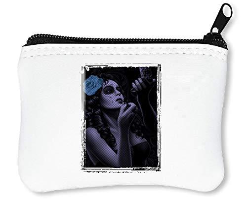 Almost Ready Halloween Horror Collection Awesome Make Up Reißverschluss-Geldbörse Brieftasche Geldbörse