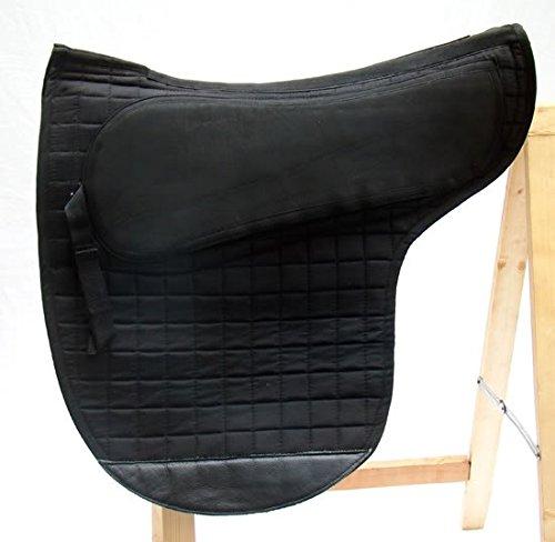 A&M Reitsport Spezielles Sattelpad Englisch für baumloser Sattel, Farbe:Schwarz
