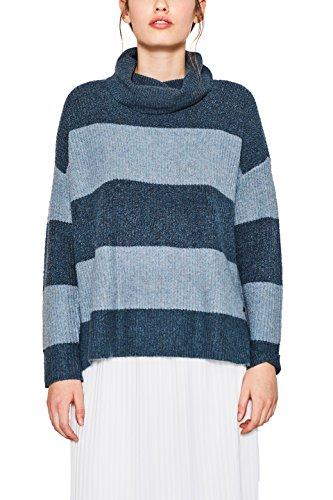 edc by ESPRIT Damen Pullover 107CC1I042 Blau (Teal Blue 455), Medium Pullover Teal