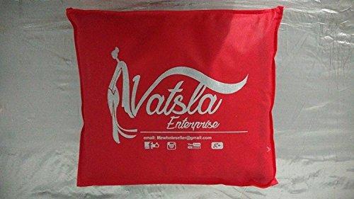 Vatsla Enterprise Women's Cotton silk Saree (VMORPICH005PINK_PINK)