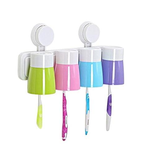 Lanspo Creative Paste Tumbler Toothbrush Holder Toothbrush Cup (B)