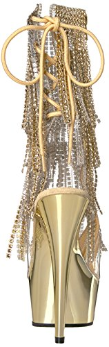 Pleaser delight-1017rsf Clr-Gold/Gold Chrome