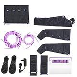 Appareil de Massage pour Jambes, DC 12V 2A Masseur Pneumatique Electrique pour Pieds Jambes Bras Ventre à Air Comprimé Massage à Air Comprimé avec Contrôleur 9 Modes d'intensités