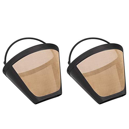 Wadoy Goldtonfilter Kaffee goldfilter Größe 4 Wiederverwendbar Permanenter Filter für Cuisinart 6 bis 12 Tassen