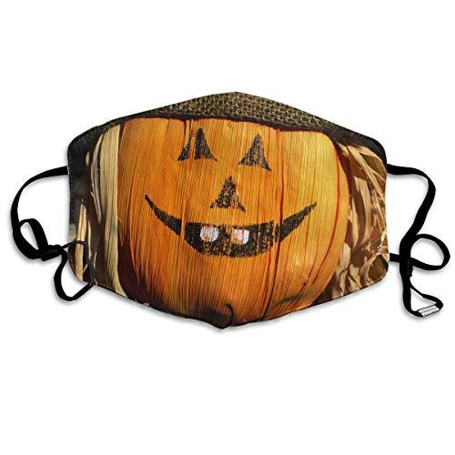 lloween Pumpkin Pattern Mouth Masks Unisex Anti-Dust Flu Washable Reusable Mouth Mask Fashion Design for Girls Women Boys Men ()