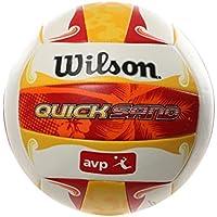 Wilson Pelota de Vóley-Playa, Exterior, Uso recreativo, Tamaño Oficial, AVP Quicksand Aloha, Rojo/Amarillo/Blanco, WTH489097XB