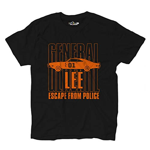 KiarenzaFD The Dukes of General Lee Hazzard T-Shirt - Schwarz, schwarz, Medium