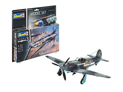 Revell- Set Yakovlev Yak-3 Kit de Modelos de plástico, 1/48 (63894)