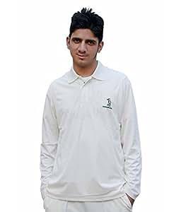 Kookaburra KBWT02Full Sleeve T-Shirt, Large (Off White)