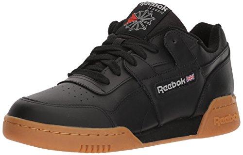 Reebok Men\'s Workout Plus Cross Trainer, Black/Carbon/Classic red, 13 M US