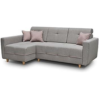 Schlafsofa ecksofa  Ecksofa Sofa Eckcouch Couch mit Schlaffunktion und Bettkasten ...