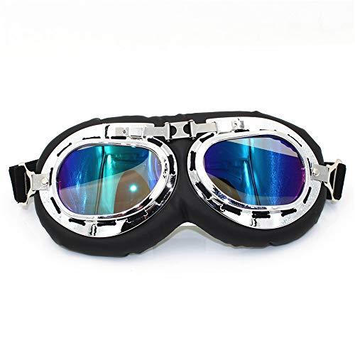 Motorrad-Schutzbrille - Dirt Bike ATV Motocross Anti-UV Adjustable Reit Offroad Schutz...