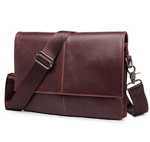 Vintage Herren Damen Crossbody Schulter Beutel Faux Leder Umhängetasche Handtaschen Schultasche