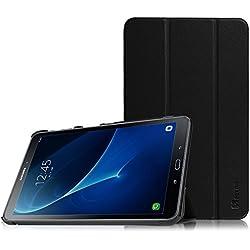 Fintie Galaxy Tab A 10.1 Funda - Ultra Slim Smart Case Funda Carcasa con Stand Función y Auto-Sueño / Estela para Samsung Galaxy Tab A 10.1 2016 T580N / T585N Tablet (Negro)
