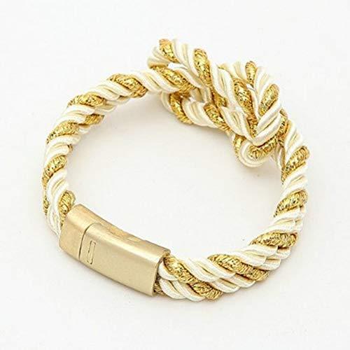 ALUN Armband Seil Kette Wrap Metal Sport Haken 1Pc Knit Cross 14 Farben Handgemachte Infinity Armband Armband -