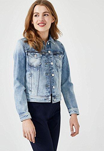HALLHUBER Veste en jean au délavé used Light Blue Denim