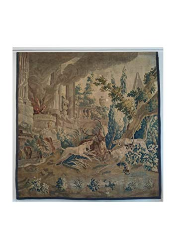 Spiffing Prints Jean Oudry - Wandteppich Aktaion Altes Rathaus Bonn - Small - Matte - Framed