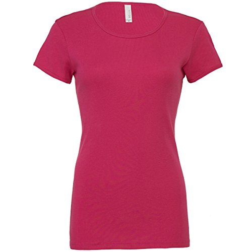 Baby rib short sleeve crew neck t-shirt Bella Canvas Streetwear Shirts Donna Berry