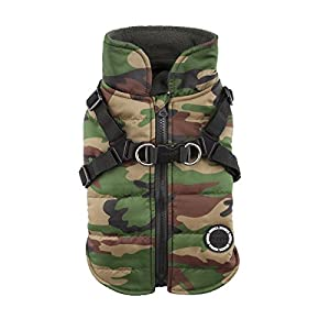 Puppia Mountaineer II Manteau d'Hiver pour Chien Camouflage Taille M