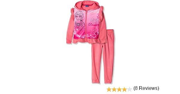 per Bambine da 3 a 8 Anni Set di Felpa con Cappuccio e Pantaloni Disney Frozen