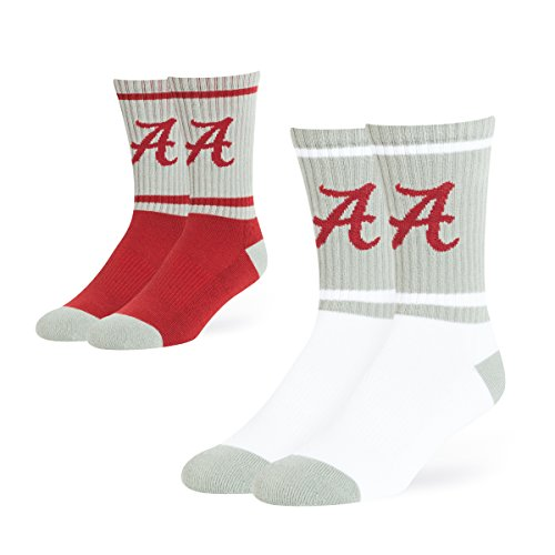 NCAA OTS longipennis Sport Socke 2er Pack, groß, unisex - erwachsene, NCAA OTS Dasher Sport Sock 2-Pack, Large, Team Color, Large