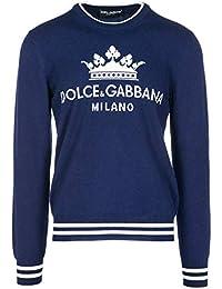 1dcabcf6fc58 Dolce   Gabbana Herren Pullover Rundhals Pulli runder Kragen blu