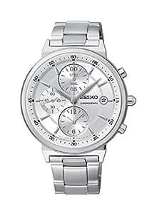 Seiko - SNDW53P1 - Montre Mixte - Quartz Chronographe - Cadran Gris - Bracelet Acier Gris