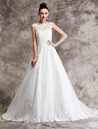 Brautkleid mit Spitze und Mieder - 2