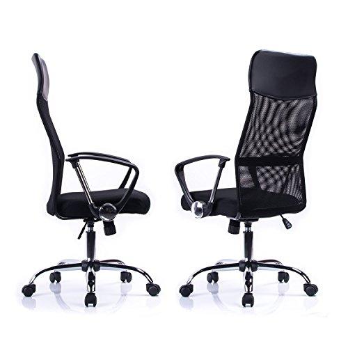 41 fdBC3DGL - Poptoy - Silla de escritorio giratoria con respaldo alto con malla y altura ajustable para el hogar y la oficina