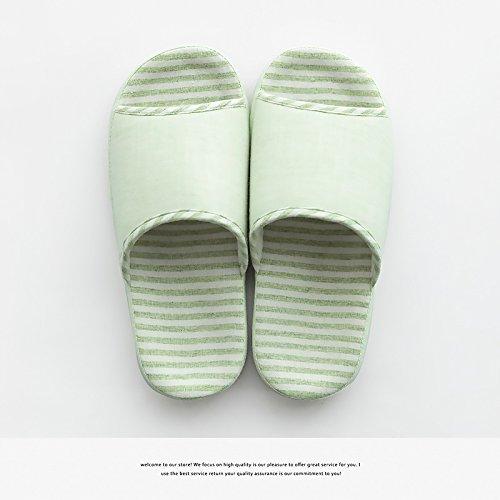 DogHaccd pantofole,La fine del bacino in estate home pantofole uomini durante la primavera e autunno il giorno in camera di spessore, antiscivolo casa usura pantofole femmina Verde chiaro4