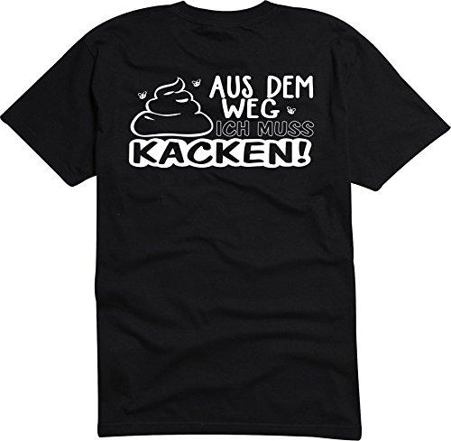Black Dragon - T-Shirt Herren - JDM / Die cut - schwarz - Aus dem Weg Muss kacken! Shit Klo Termin - XXL (Weg T-shirt Lustige)