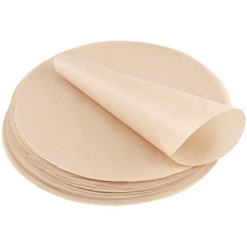 ihaft Rund Holz Backpapier, Antihaftbeschichtet & Fettdicht für Kuchen BBQ Grillen Pfannen Backen Hamburgerpresse Dessert (8 Zoll, Bär bis 220 Grad) ()