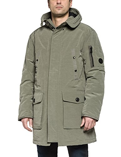 Replay Men's Men's Hooded Jacket In Green Color In Size Xxl Green