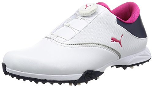 Puma Golf PG Blaze Disc Damen Golfschuhe Frauen Sportschuhe weiß dunkelblau rosa Größe 38,5