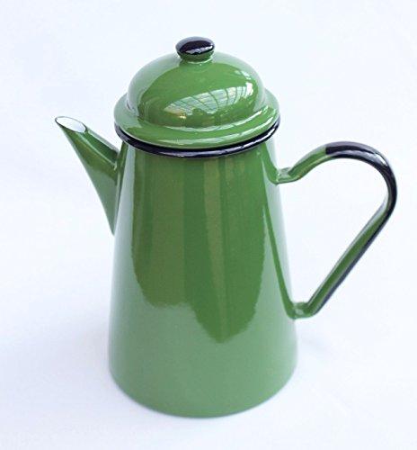 DanDiBo Kaffeekanne 578TB Grün 1,0 L emailliert 22 cm Wasserkanne Kanne Emaille Nostalgie Teekanne