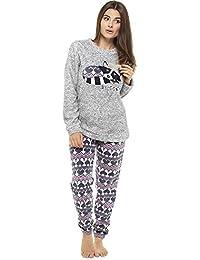 Pyjamas for Women Girls Ladies PJ's Comfy Snuggle Warm Fleece Twosie Pyjama Set | Luxury Soft Pyjama Bottoms Set Lounge Wear | Perfect Christmas Gift for Women