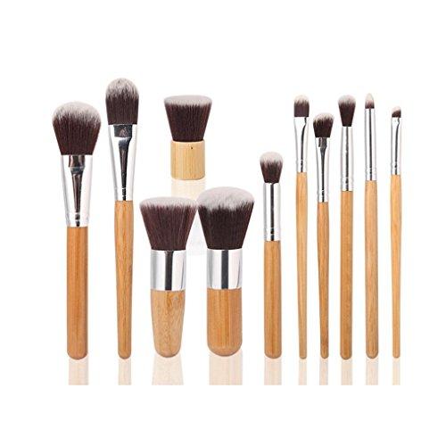 kingko® 1 PC Oblique Head brosse + 11 PCS Cosmétique maquillage pinceaux trousse de maquillage + 1 PC String