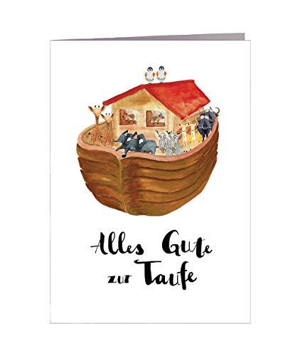 Karte Taufe - Glückwunsch zur Taufe - Handmade in Hamburg - DIN A6 mit Umschlag