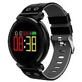 Ganeep Sport3 Smart Watch Männer Blutdruck IP68 Wasserdicht Fitness Tracker Clock Smartwatch für IOS Android Wearable Devices 0,95 Zoll OLED 3D Radian Display (Color : Blue)