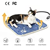 Mora Pets Heated Cat Puppy Blanket - Heated Pet Pad Bed, Electric Pet Heat Mat for Cat, Kitten and Dog 45 x 45 CM