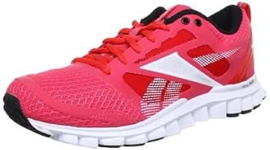 Reebok  REALFLEX SPEED, Chaussures de running femme - Multicolore - Mehrfarbig (CORAL CONTRAST/GERANIUM/TIN GREY/WHITE/BLACK), 37 EU