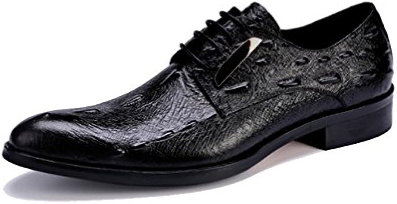 XYCSZQ Hombres Casual Elegante Moda Usable Transpirable Banquete Boda Cómodo Zapatos De Cuero -