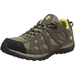 Columbia Redmond Waterproof - Zapatillas de montaña para mujer, Marrón (Pebble / Sunlit), 38.5 EU