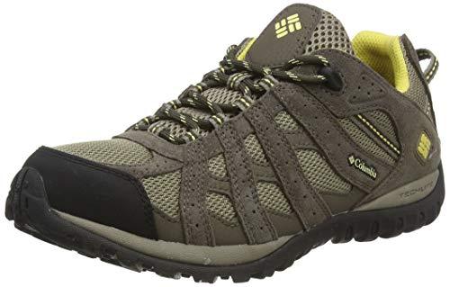 Columbia Redmond Waterproof - Zapatillas de montaña para mujer, Marrón Pebble / Sunlit, 38.5 EU