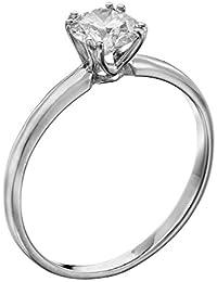 Solitaer Diamantring - 18k Round mit EGL Zertifikat 0.51 Karat