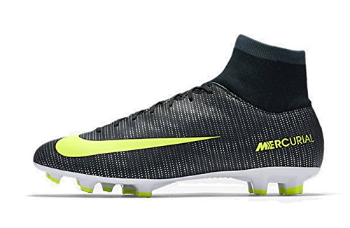 Nike  Mercurial Victory Vi Cr7 Df Fg, Chaussures de foot pour homme - vert Verde (Seaweed/Volt Hasta White)