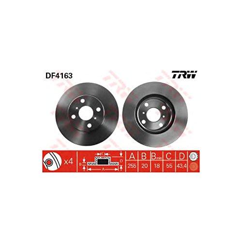 Preisvergleich Produktbild TRW Automotive AfterMarket DF4163 Bremsscheibe - (Paar)
