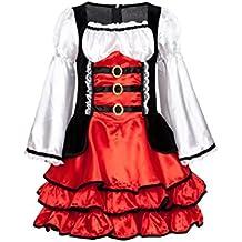 Kostümplanet® Piratenkostüm für Mädchen Kinder Kostüm Piraten Kleid Größe 116 128 140 152 164